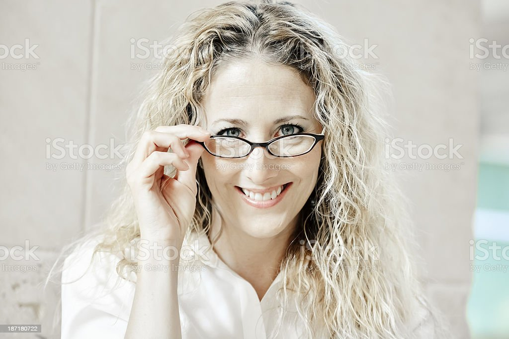 Lovely businesswoman. royalty-free stock photo
