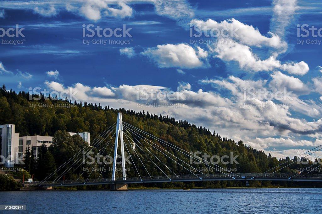 Lovely Campus of Jyvaskyla royalty-free stock photo