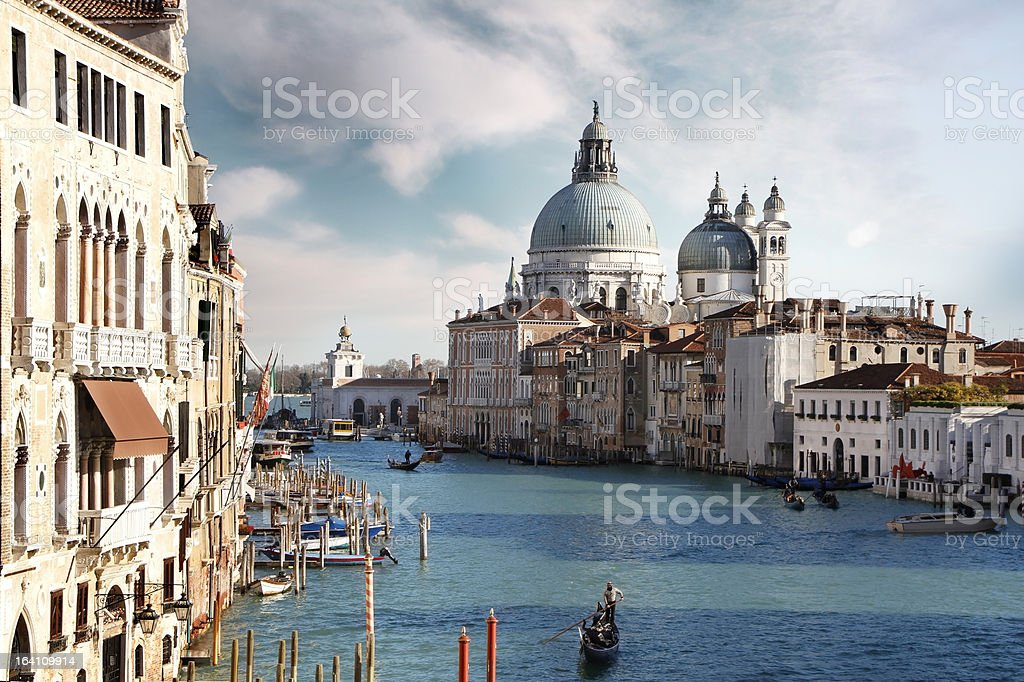 Lovely canals in Venice. Italy royalty-free stock photo