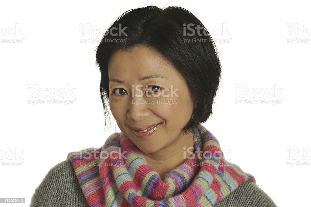 Lovely Chinese mature adult woman royalty-free stock photo