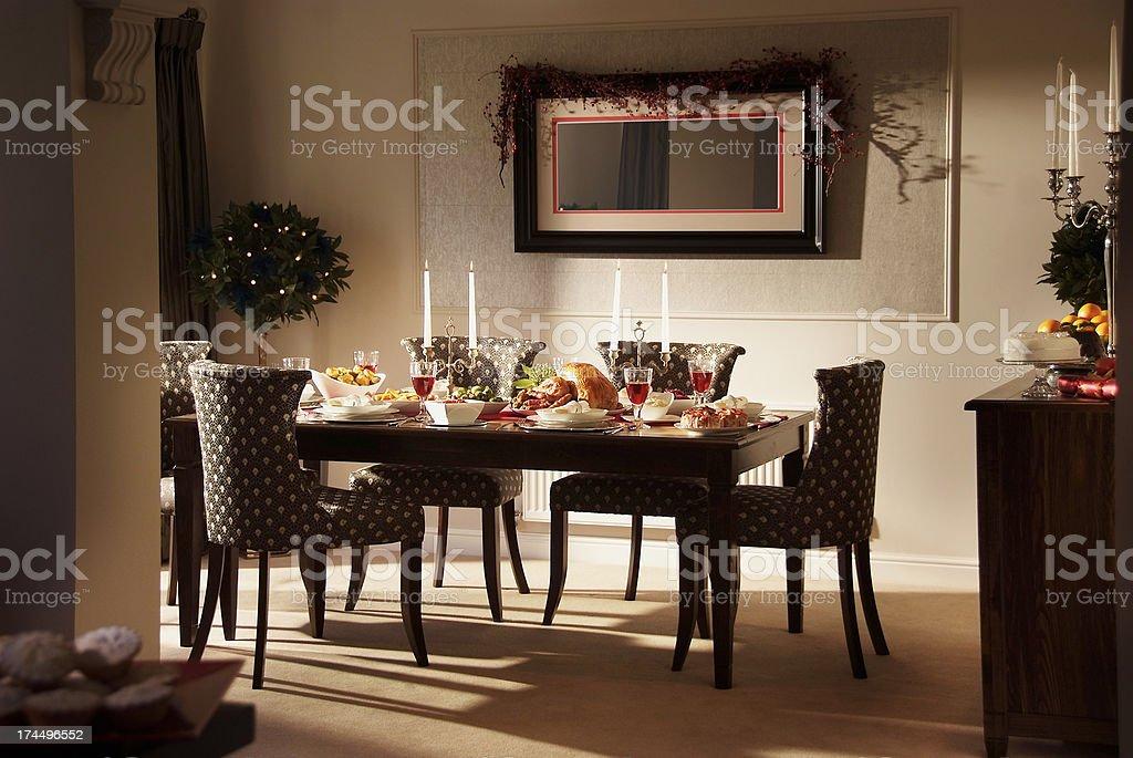 Lovely Christmas Dinner Setting stock photo