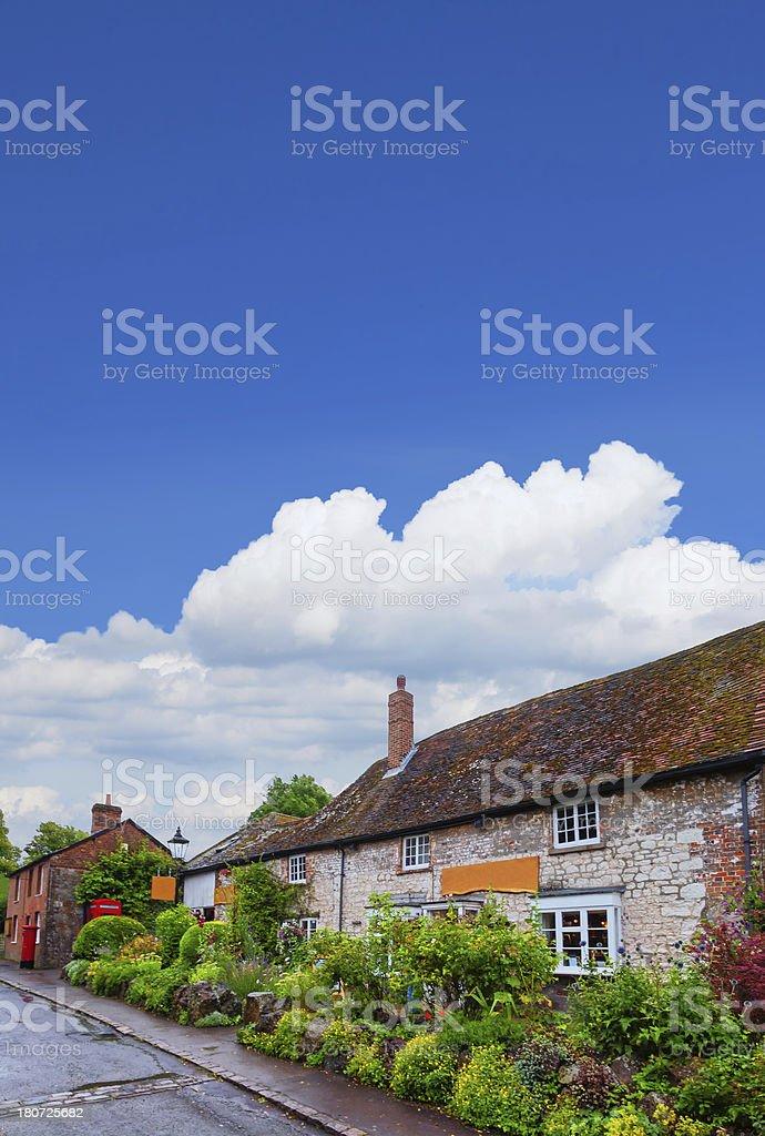 Lovely cottage at Avebury countryside, England, UK stock photo
