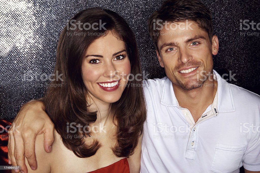 Lovely couple on a night out royalty-free stock photo