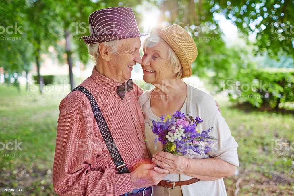 Lovely couple stock photo