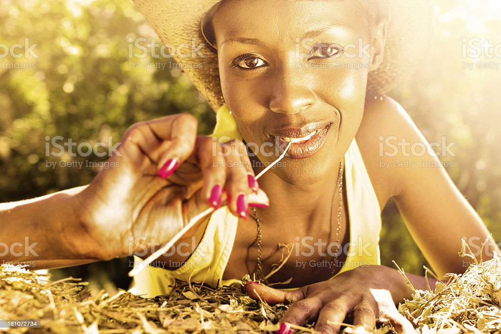 Lovely cowgirl royalty-free stock photo