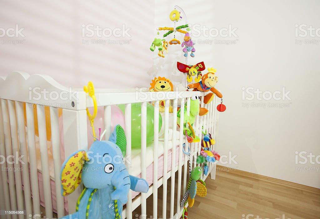Lovely Crib Waiting For Newborn royalty-free stock photo
