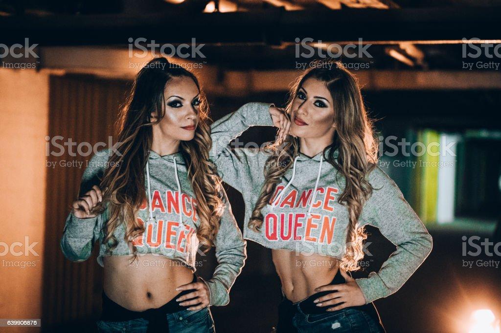 Lovely dancers stock photo