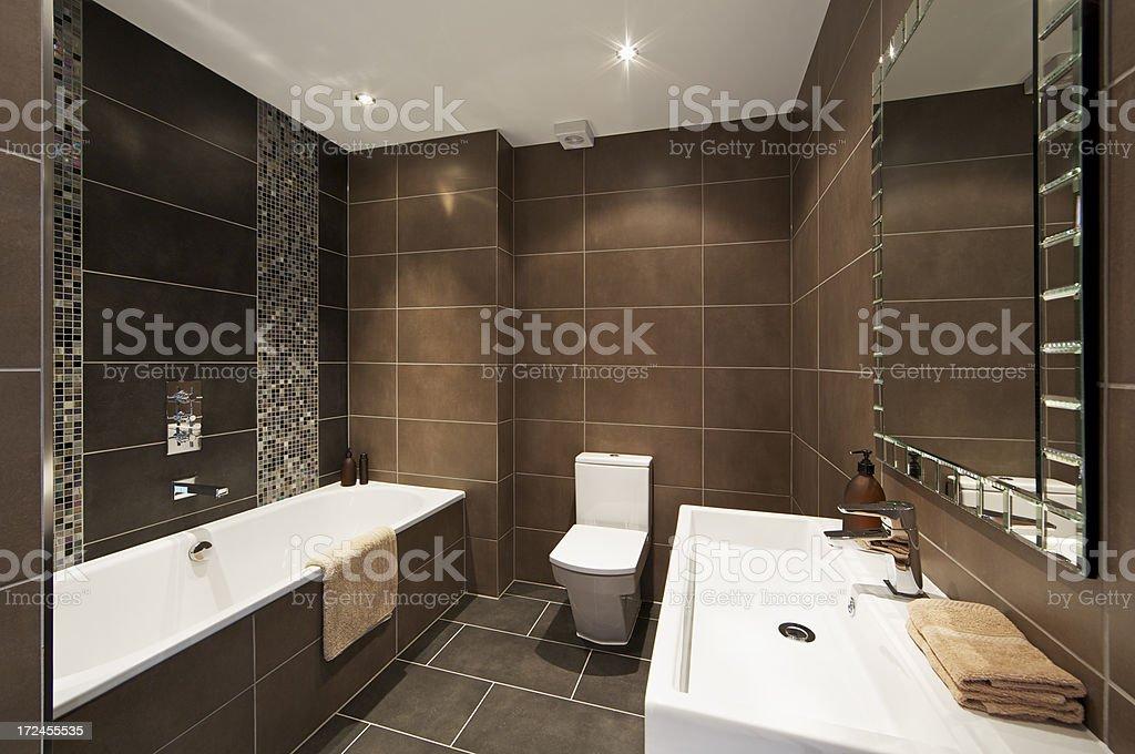 lovely dark brown bathroom royalty-free stock photo