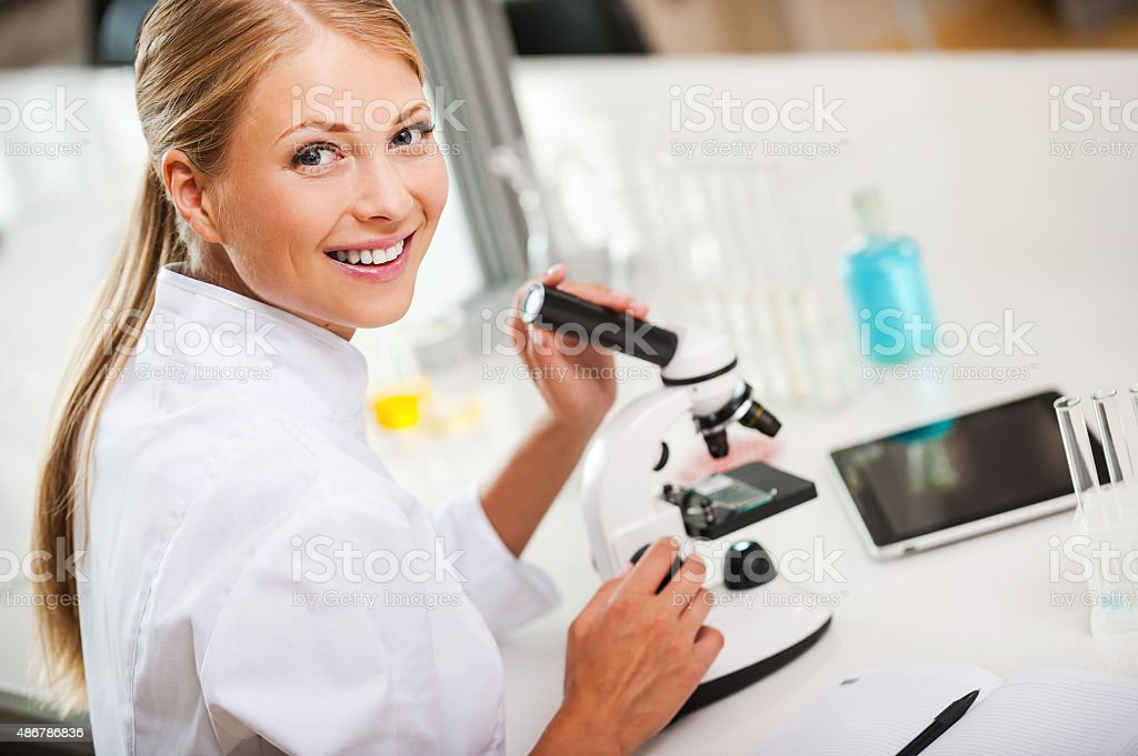 Lovely day in the laboratory. stock photo