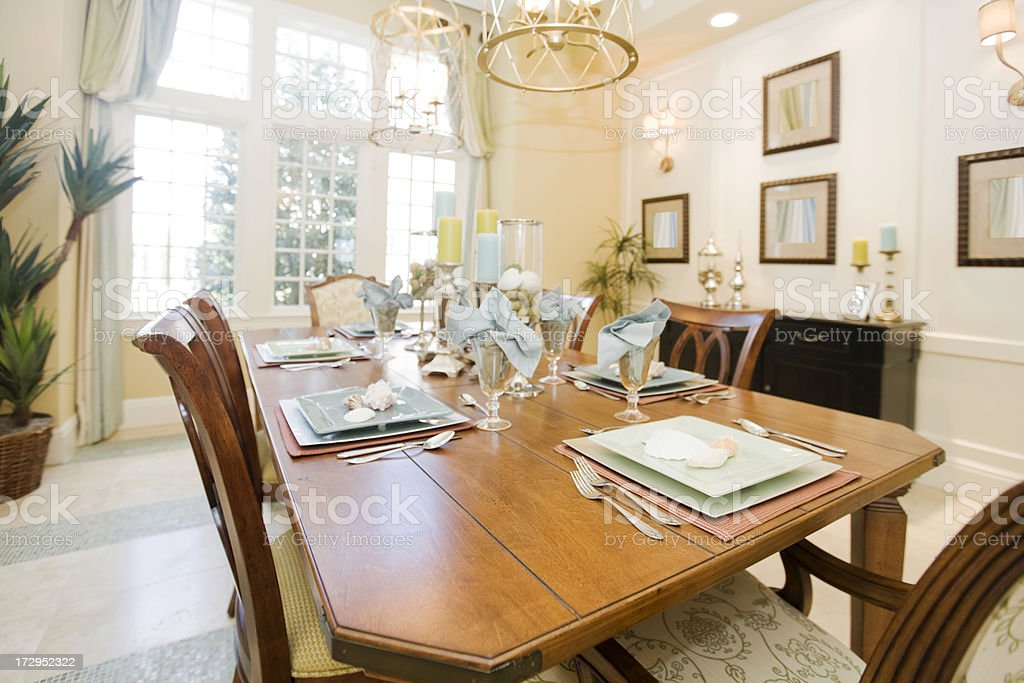 Lovely Dining Room royalty-free stock photo