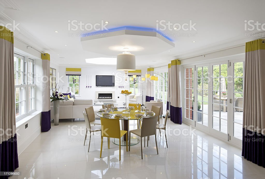lovely family room stock photo