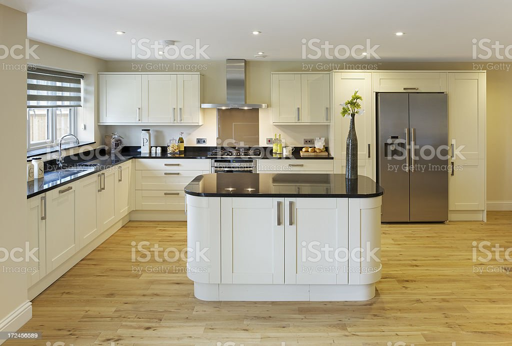 lovely farmhouse style kitchen royalty-free stock photo