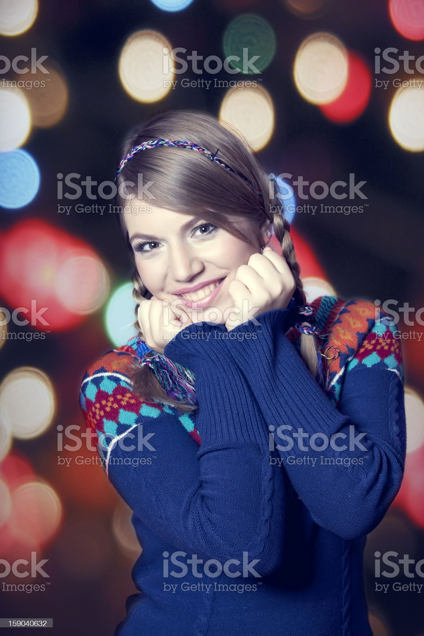 Lovely girl in sweater. royalty-free stock photo