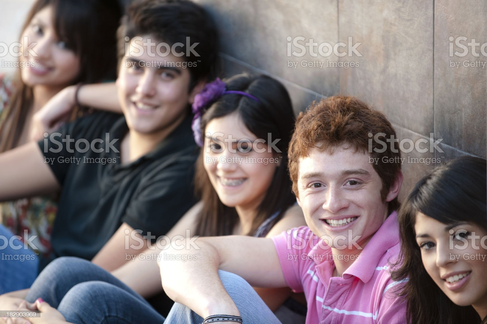 Lovely group of friends royalty-free stock photo
