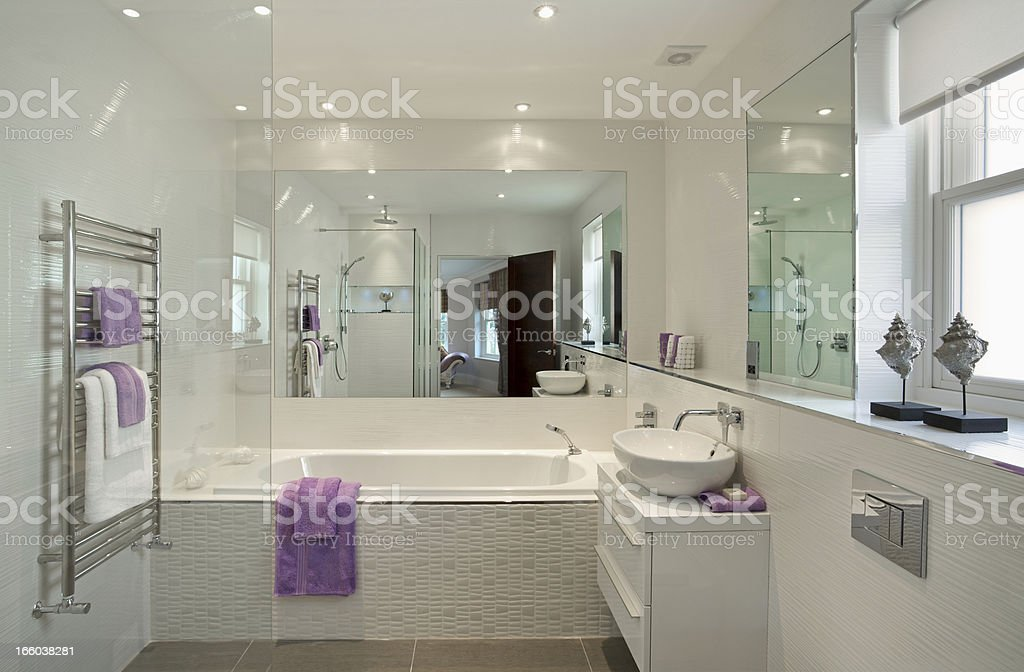 lovely guest's bathroom stock photo