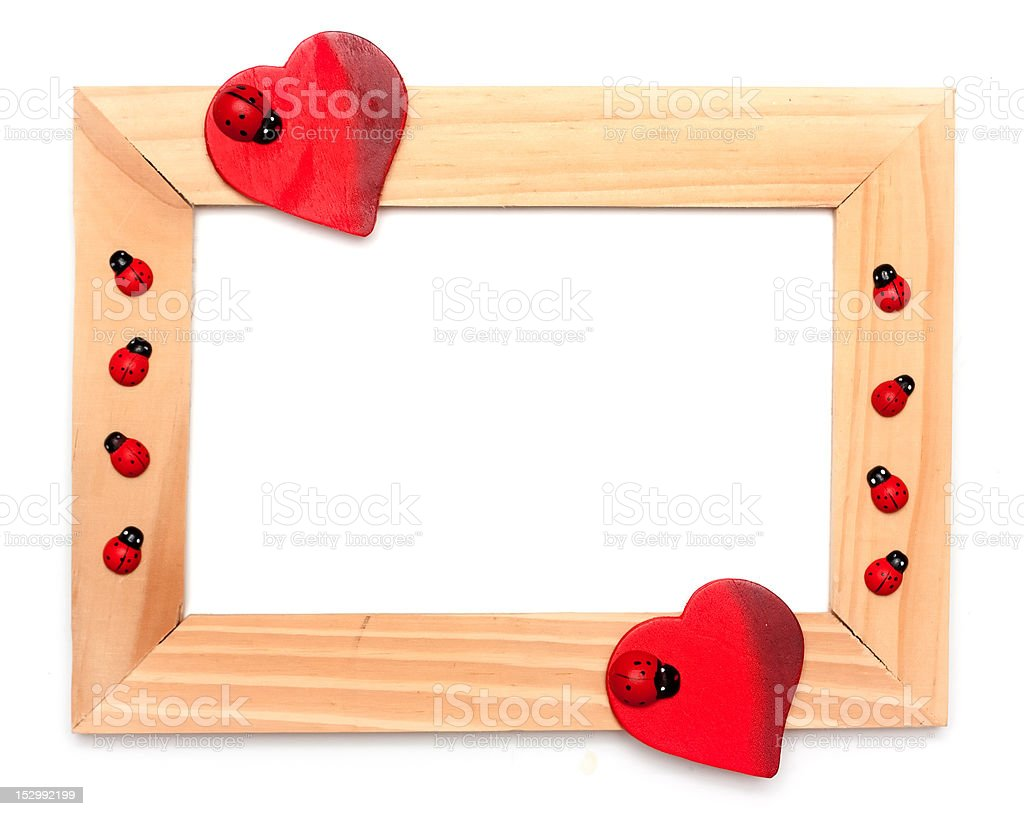 lovely heart frame for your design royalty-free stock photo