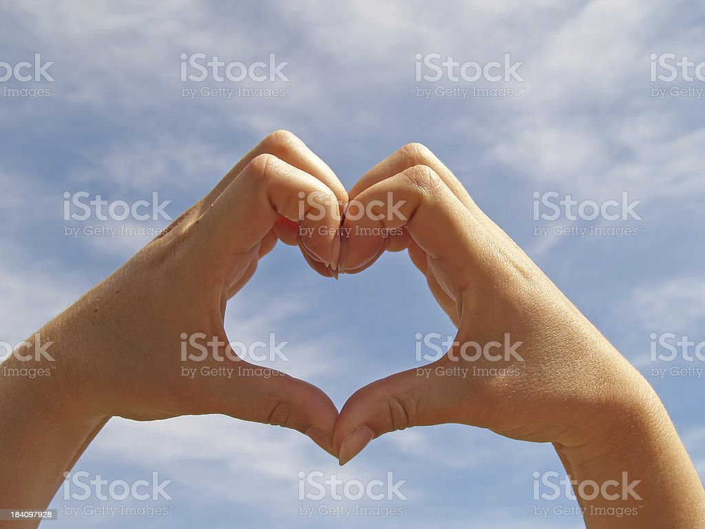 Lovely heart royalty-free stock photo