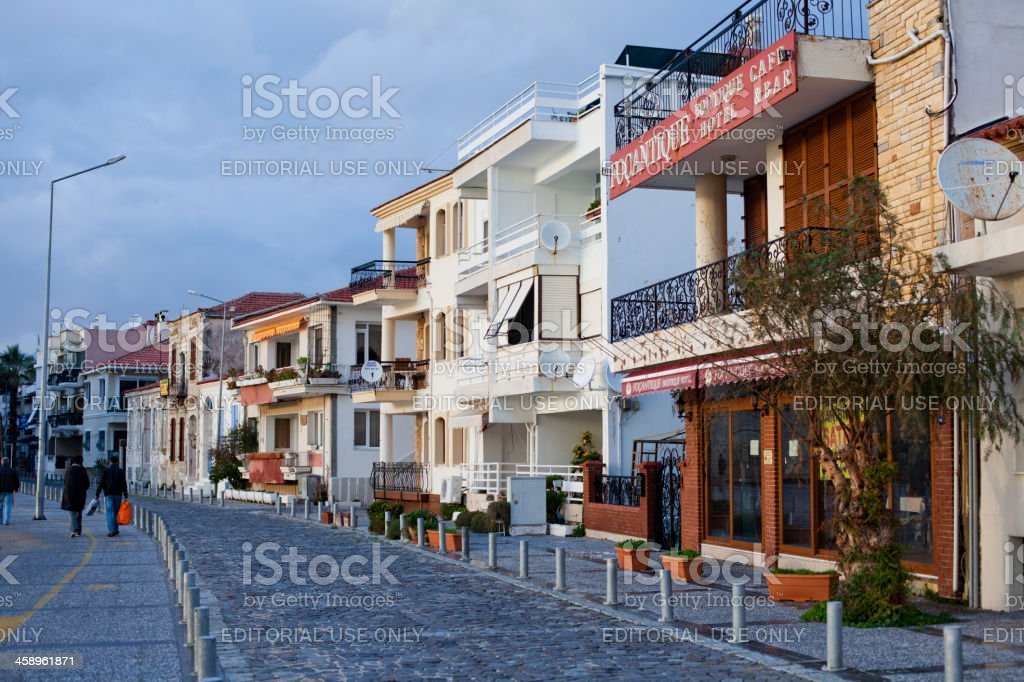 Lovely Houses of Foca, İzmir, Turkey royalty-free stock photo