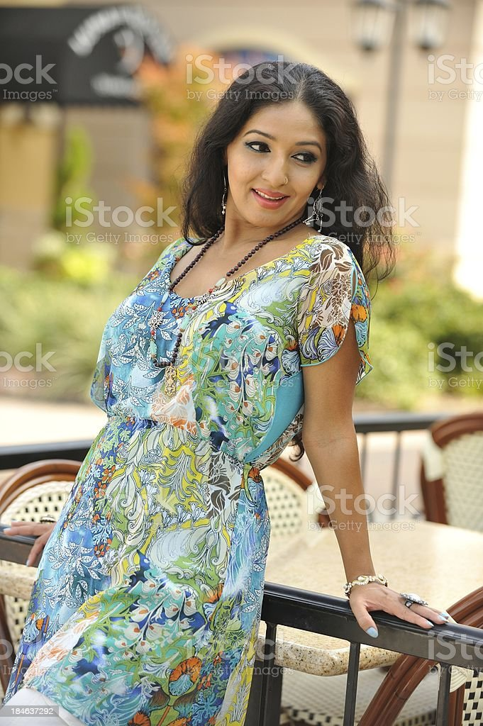 Lovely Indian woman outdoors royalty-free stock photo