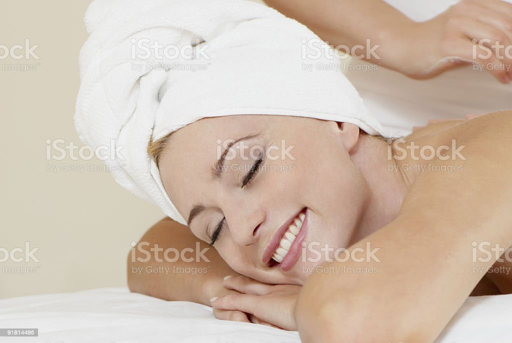 lovely lady in massage salon royalty-free stock photo