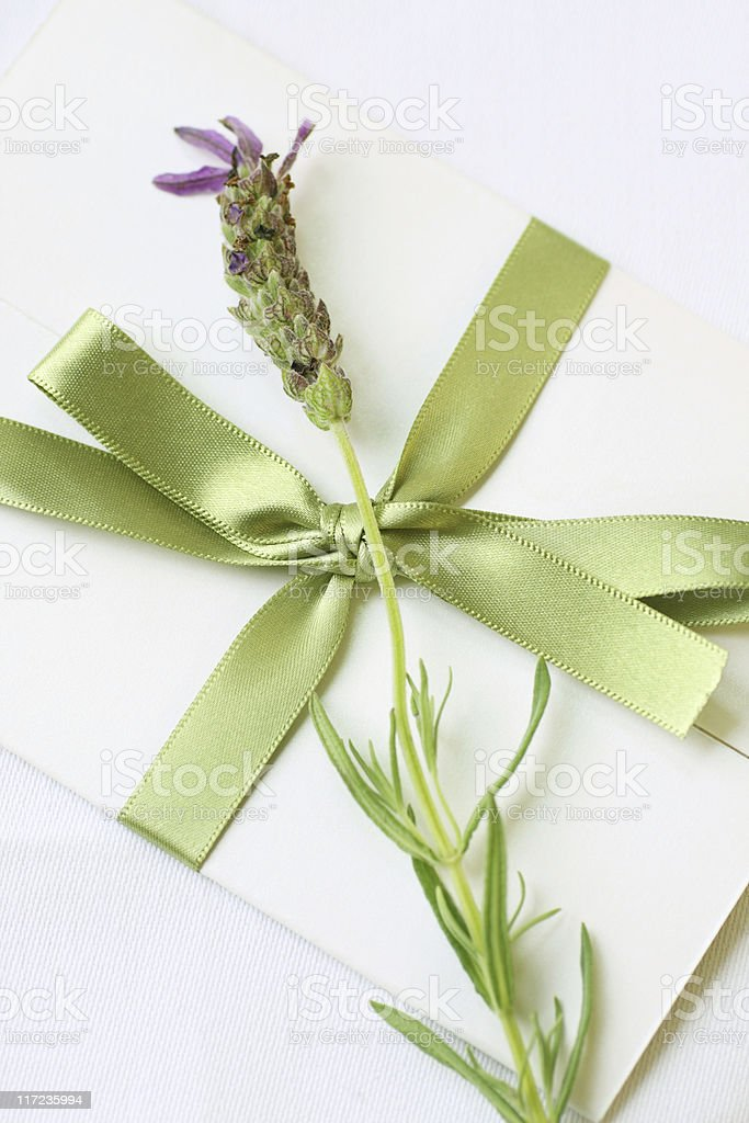 lovely lavender letter royalty-free stock photo