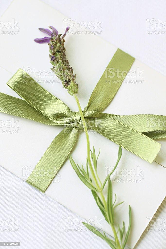 lovely lavender letter stock photo