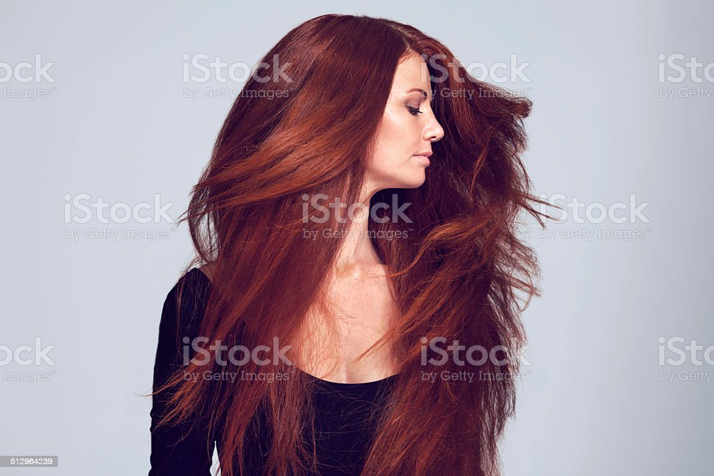 Lovely luscious locks stock photo