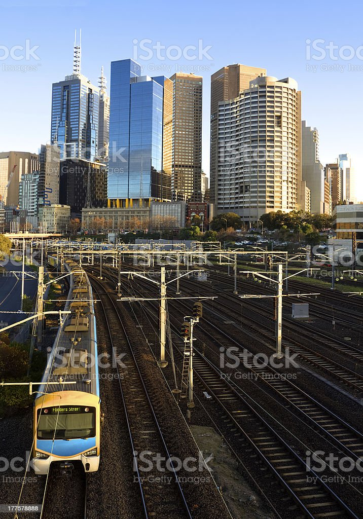 lovely morning for a train ride royalty-free stock photo