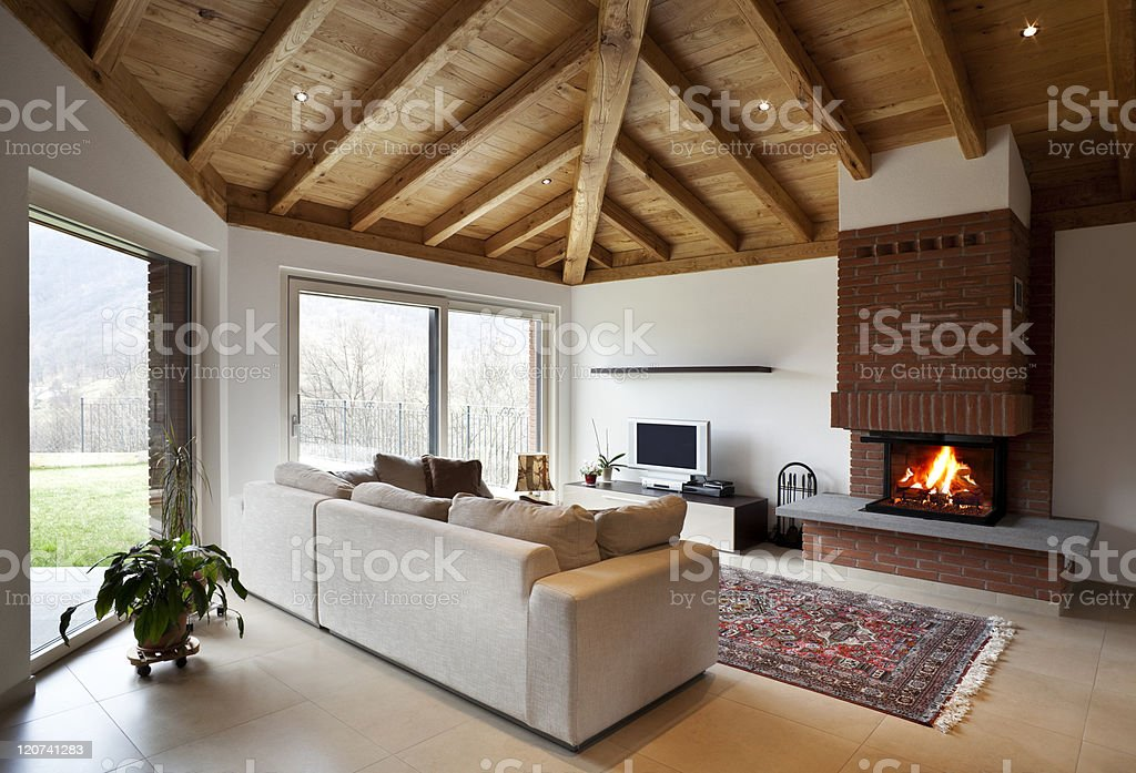 lovely new house, modern furniture royalty-free stock photo