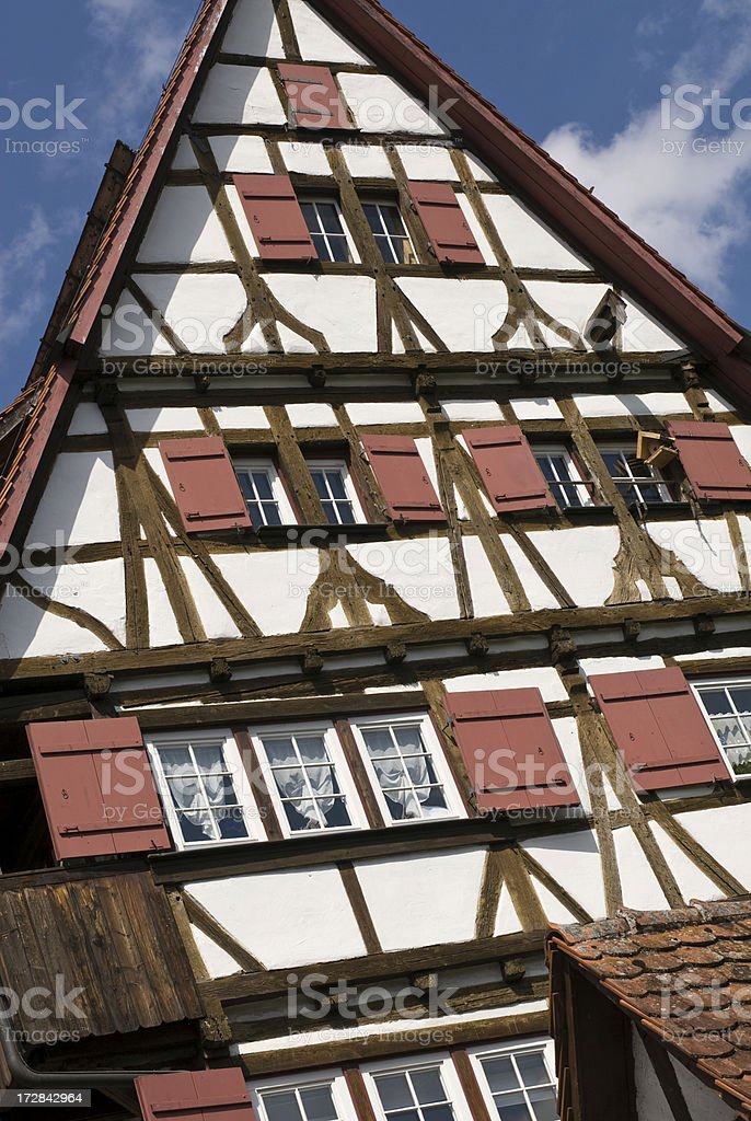 Lovely old Timbered House stock photo