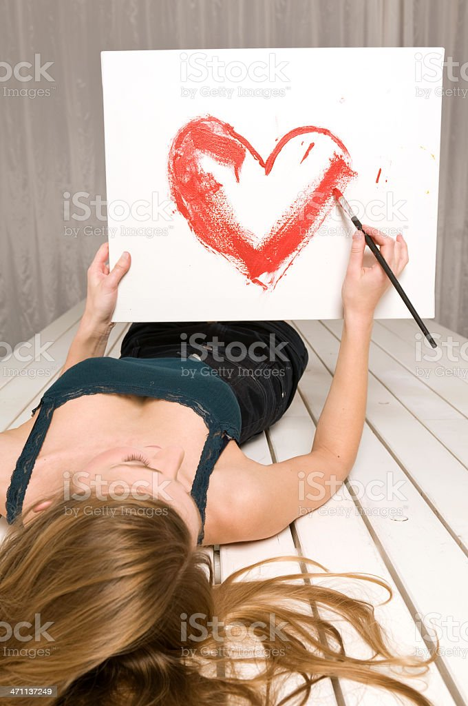 Lovely painter royalty-free stock photo