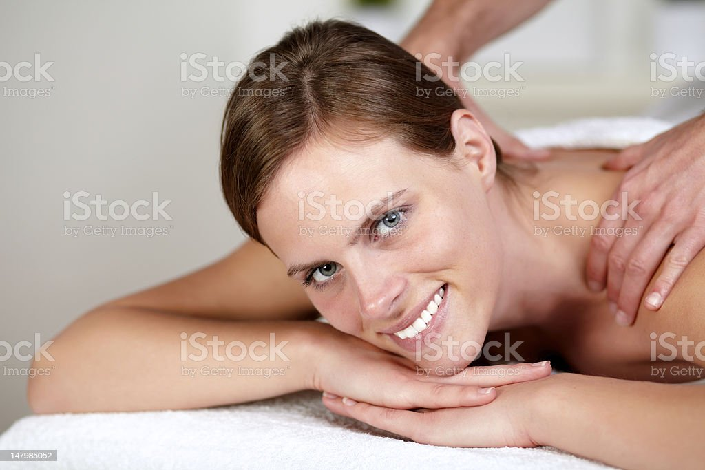 Lovely pretty girl smiling and relaxing royalty-free stock photo