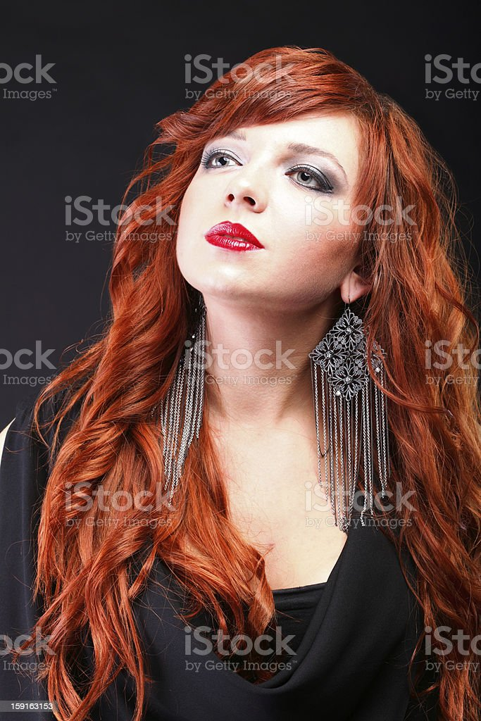 lovely redhead - Young beautiful red haired woman royalty-free stock photo