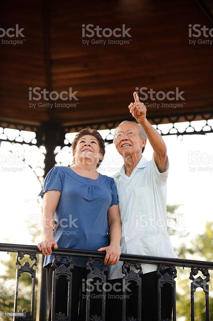 Lovely senior couple royalty-free stock photo