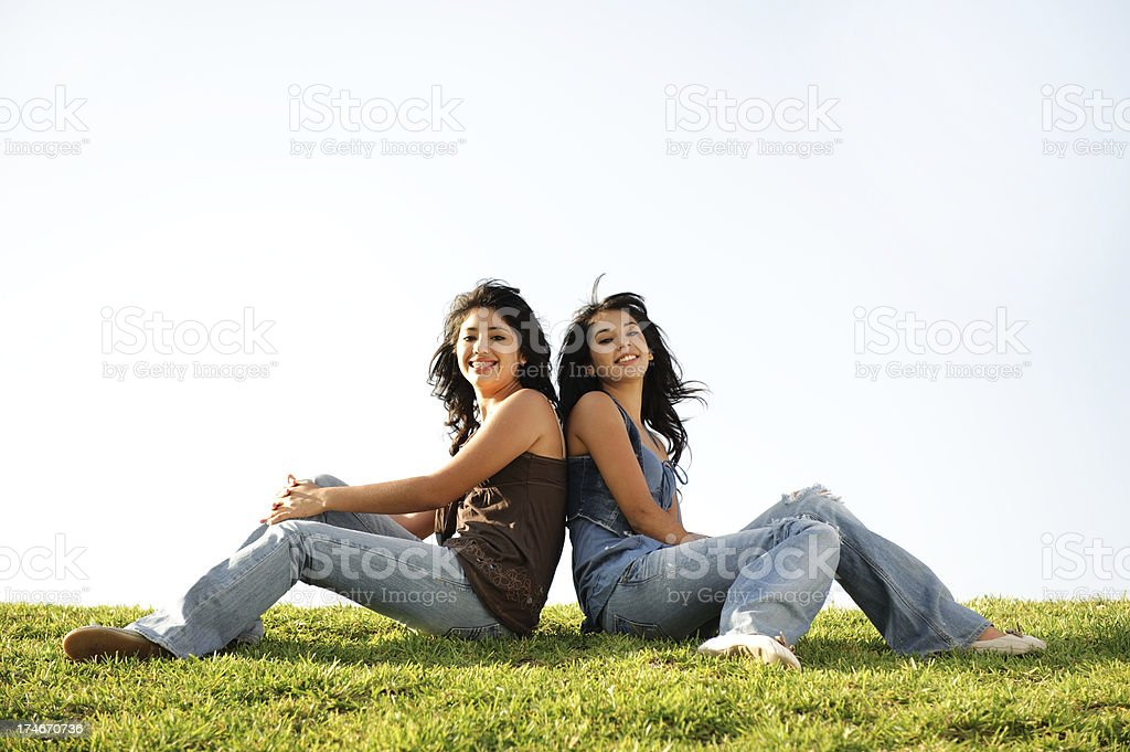 Lovely sisters royalty-free stock photo