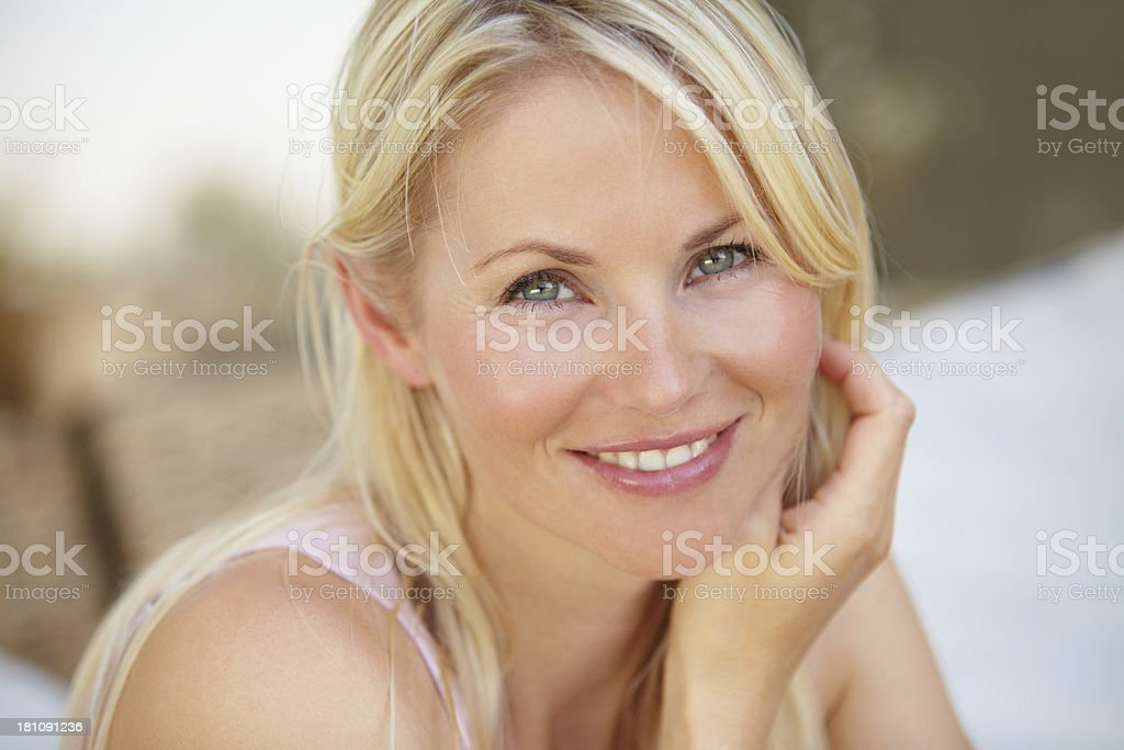 Lovely smile on a pretty face royalty-free stock photo
