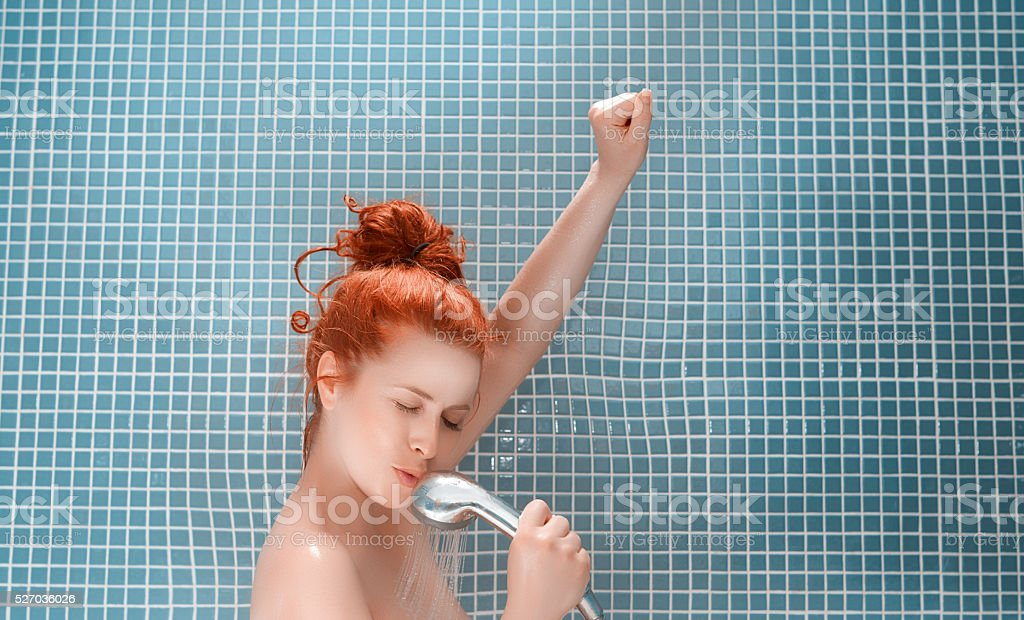 lovely song in my bath stock photo