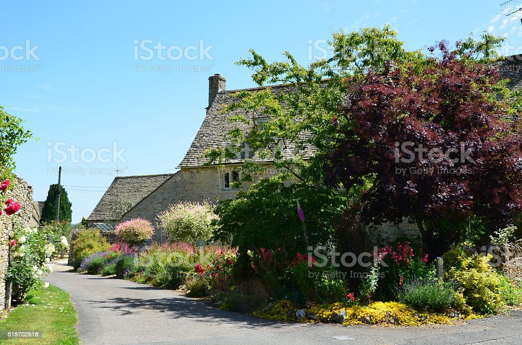 Lovely street in the countryside stock photo
