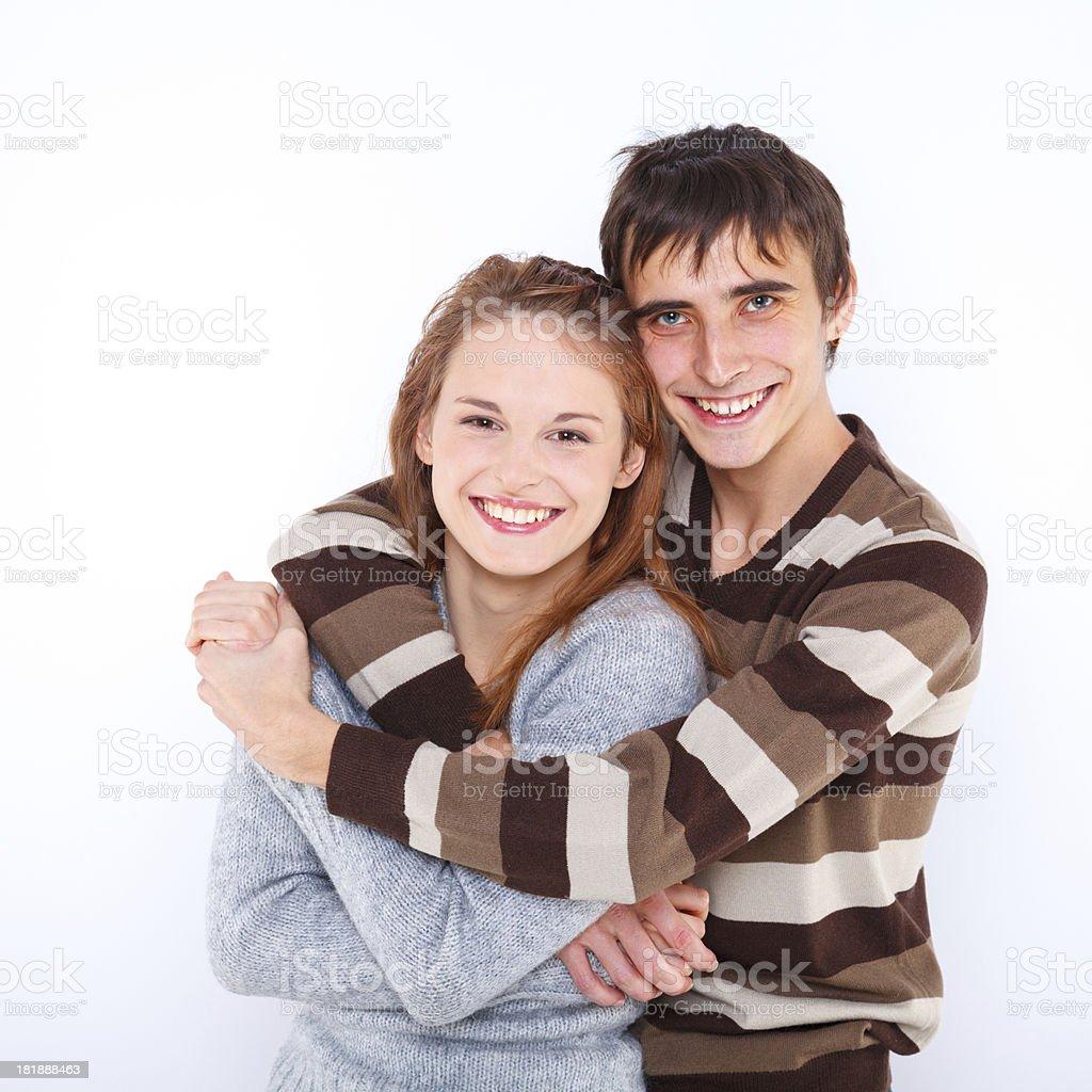 Lovely sweet couple royalty-free stock photo