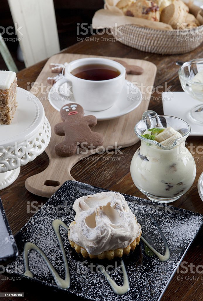 Lovely tea time with perfect deserts royalty-free stock photo