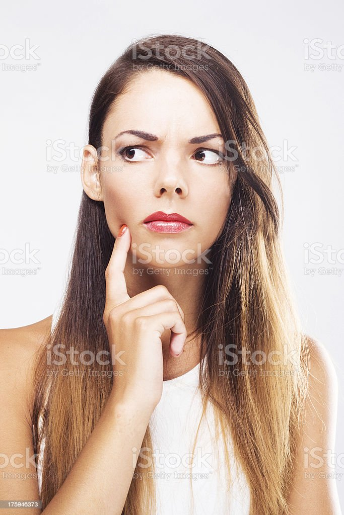 Lovely thoughtful woman royalty-free stock photo