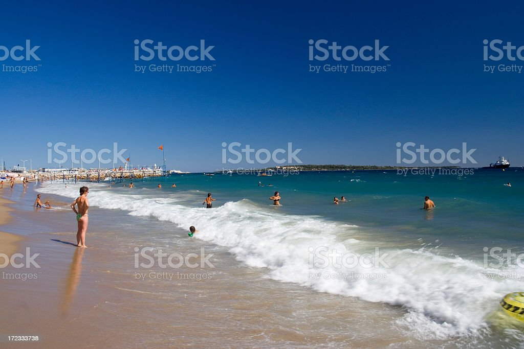 Lovely view of a beach in Cannes royalty-free stock photo