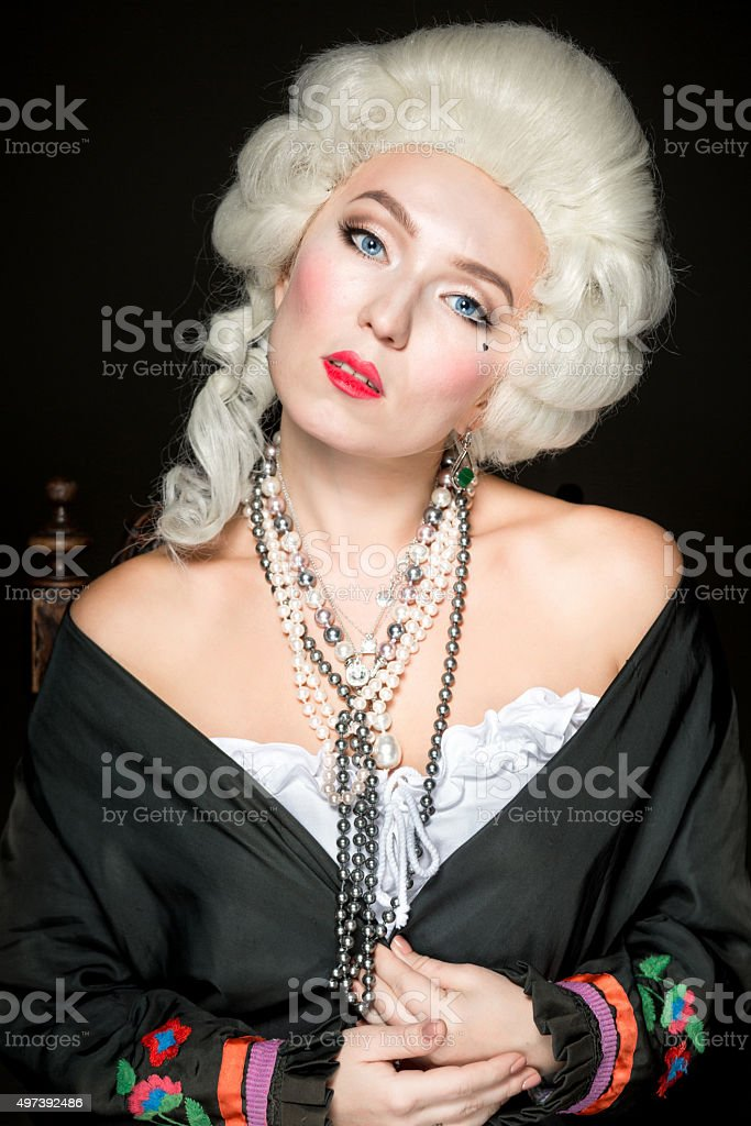 Lovely Woman Baroque stock photo