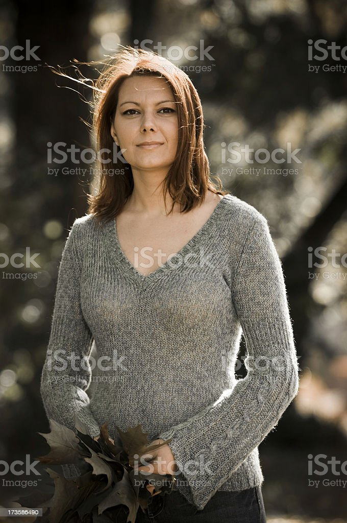 lovely woman in her 30s royalty-free stock photo
