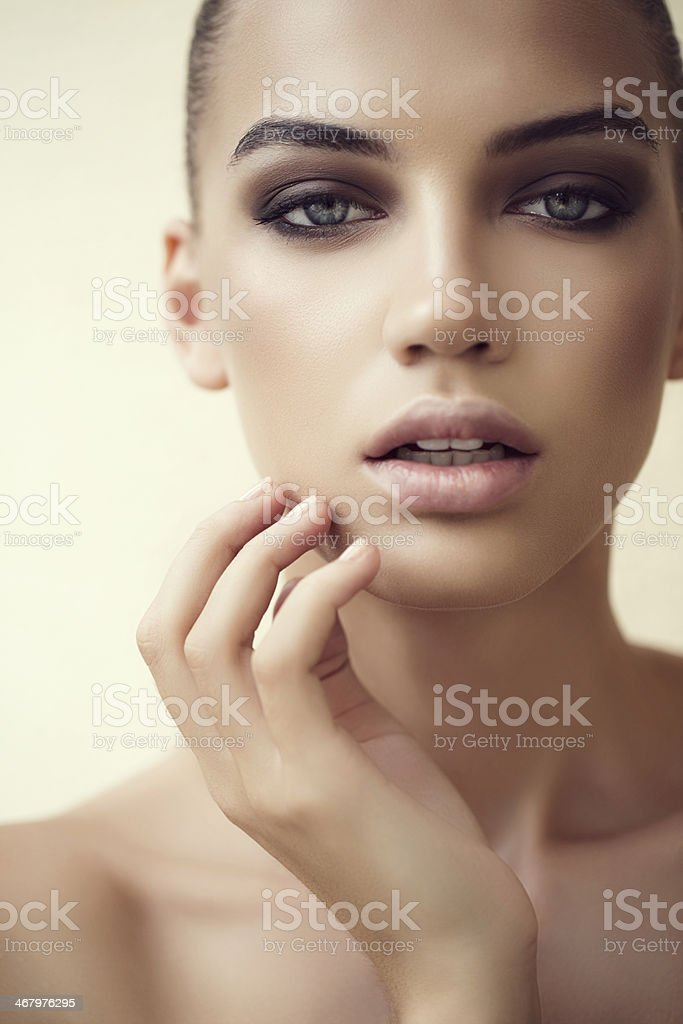 Lovely woman stock photo