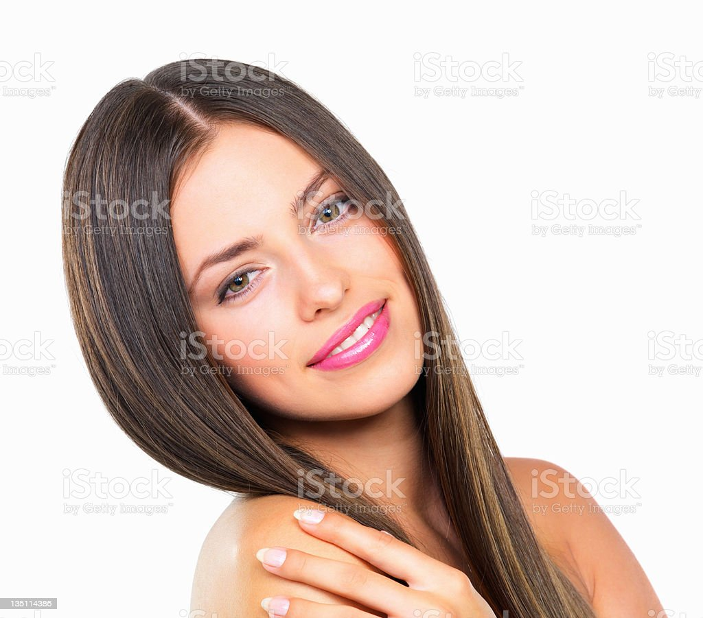 Lovely woman smiling royalty-free stock photo