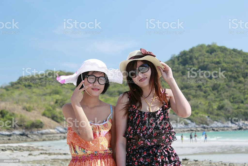 lovely woman tours the sea royalty-free stock photo