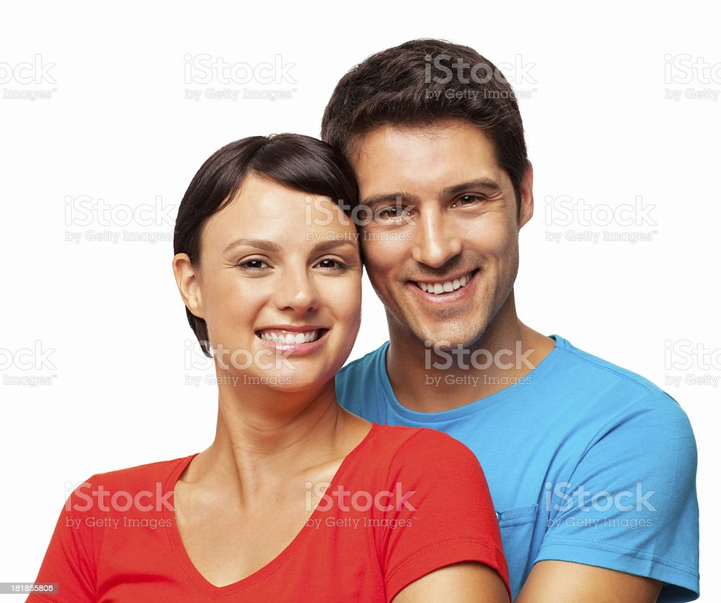 Lovely Young Couple - Isolated royalty-free stock photo