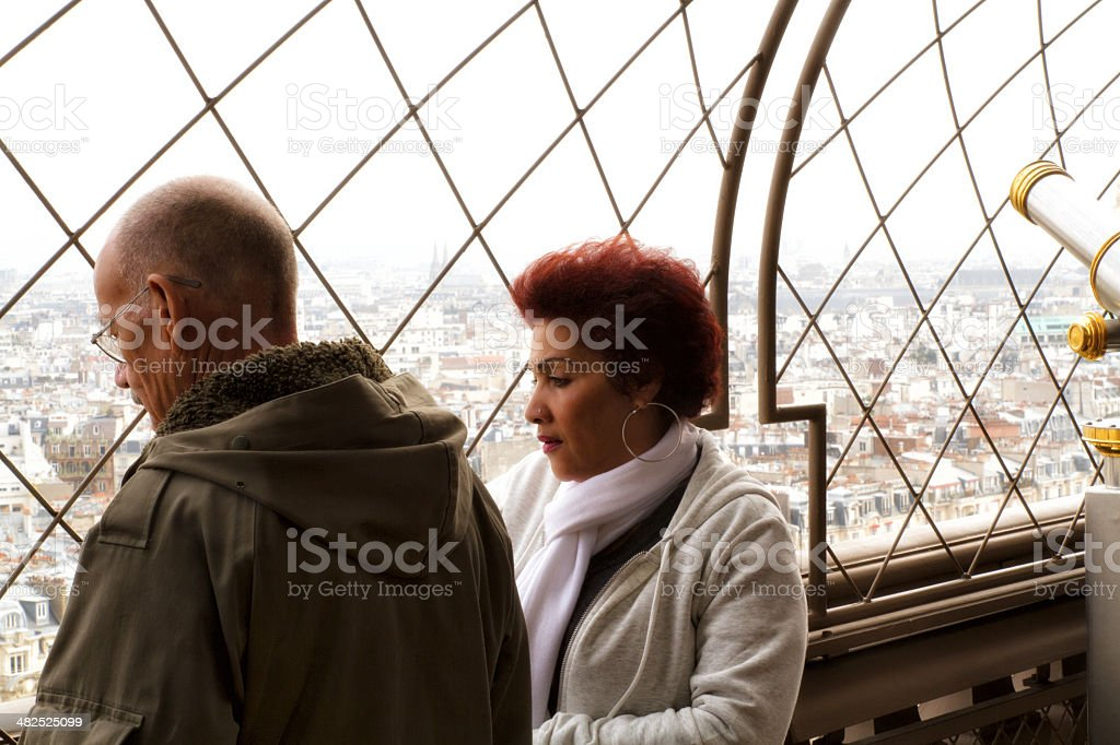 Lover in the Eiffel tower royalty-free stock photo