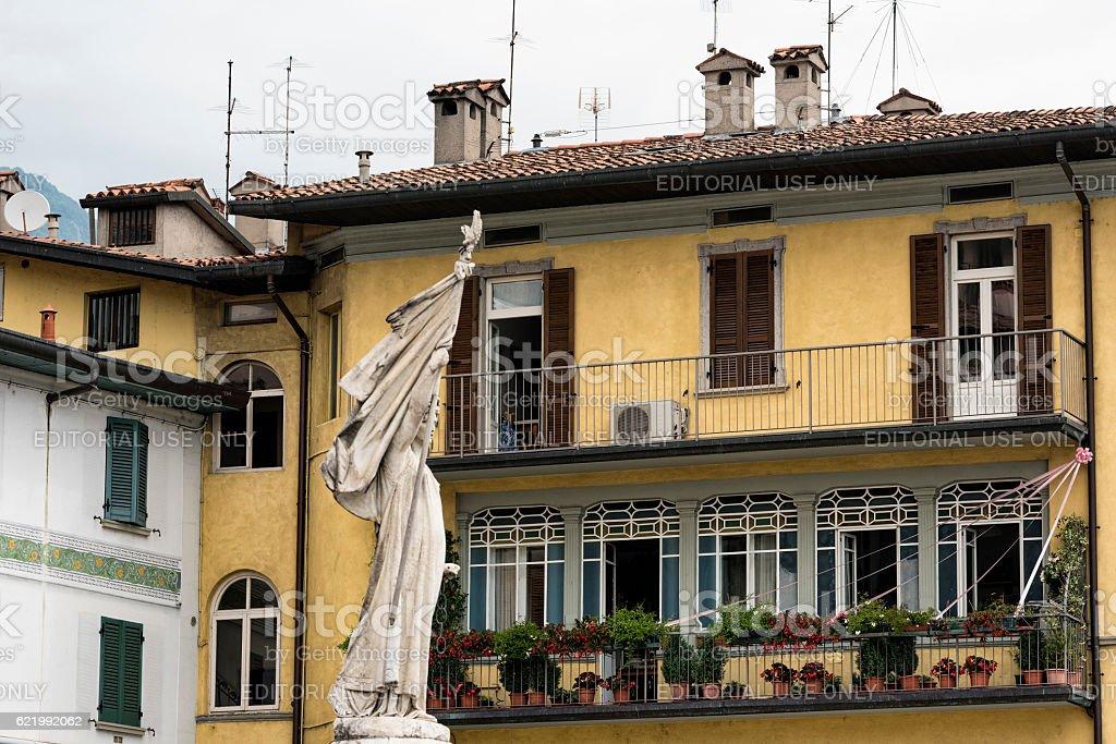 Lovere (Bergamo, Italy), historic house stock photo